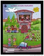 ESPAÑA 2013 - VALORES CIVICOS ESCOLARES - COMICS - BLOCK - EDIFIL Nº 4814 - YVERT N 4515-4518
