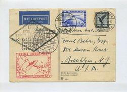 1930 Dt.Reich DOX Erster Überseeflug Dornier Flugschiff Europa - Amerika Schöne Karte Mit Mi  383 , 423