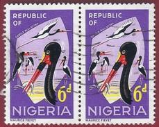 1966 - Saddle-billed Stork (Ephippiorhynchus Senegalensis) - Mi:NG 181A - Used