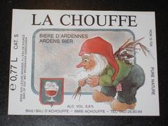 BIER ETIKET LA CHOUFFE - Beer
