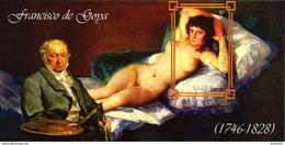 Zaire  Block  Erotik  Goya  Die Nackte Maja   **/MNH
