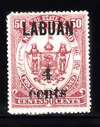 Labuan 1904 Mi Nr 117 Opdruk 4 Ct Op 50, - North Borneo (...-1963)