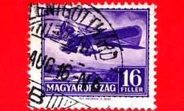 UNGHERIA - Usato - 1933 - Aereo 'Giustizia Per L'Ungheria' Sopra Danubio - 16 P.aerea