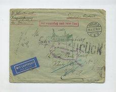 1932 Dt. Reich Katapultpost LUPO Brief Vom 6.7 Dampfer Bremen - NY Hab 91a