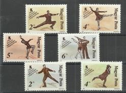 """Ungarn 3946-51A """"6 Briefmarken Im Satz Kpl. Zu Eislaufmeisterschaften In Budapest"""" Postfrisch Mi.: 4,40 €"""
