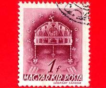 UNGHERIA - Usato - 1939 - Chiesa D' Ungheria - Corona Di Santo Stefano - Sacra Corona - 1