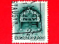 UNGHERIA - Usato - 1939 - Chiesa D' Ungheria - Corona Di Santo Stefano - Sacra Corona - 2