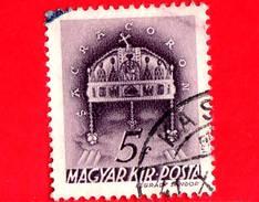 UNGHERIA - Usato - 1939 - Chiesa D' Ungheria - Corona Di Santo Stefano - Sacra Corona - 5