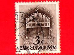 UNGHERIA - Usato - 1941 - Chiesa D' Ungheria - Corona Di Santo Stefano - Sacra Corona - 3