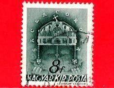 UNGHERIA - Usato - 1941 - Chiesa D' Ungheria - Corona Di Santo Stefano - Sacra Corona - 8