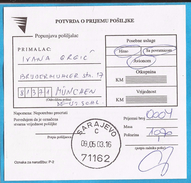 2003  RECCO ZETTEL SARAJEVO  BOSNIA HERZEGOVINA   INTERESSANT