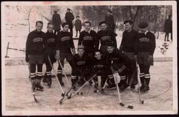 001-GERMANY? SWITZERLAND? Eishockey Geschichte Team HOSR 30-er Jahren?-ice Hockey History Team HOSR 30-ies? Pfoto-Foto