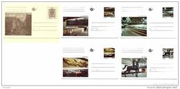 Belgium 1991 BK 39-43 Set Of 5 Cards MNH, Burssens De Cock Lismonde Poot Grande Boucherie, Metro Paintings - Enteros Postales