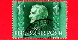 UNGHERIA - Usato - 1942 - Miklos Horthy - Capo Di Stato - 1