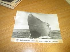Photograph Photo WWII Deuxieme Guerre Mondiale German U Boat - Documents