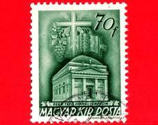 UNGHERIA - Usato - 1943 - Chiesa D'Ungheria - Deak Square Evangelical Church, Budapest - 70