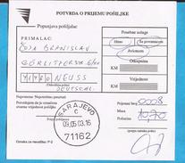 2003  RECCO ZETTEL SARAJEVO  BOSNIA HERZEGOVINA  GERMANIA  INTERESSANT