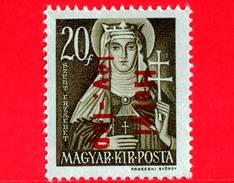 UNGHERIA - Nuovo - 1943 - Liberazione Dell'Ungheria - Santa Elisabetta (1207-1231) - Sovrastampato 'Helyi Lev.-lap' - 20