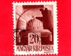 UNGHERIA - Usato - 1943 - Personaggi Della Storia Ungherese - Corona Di S. Stefano - 20