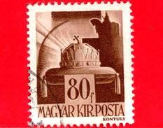 UNGHERIA - Usato - 1943 - Personaggi Della Storia Ungherese - Corona Di S. Stefano - 80