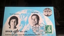 GERMANIA 1988 GERMAN SPACELAB MISSION - 2 CARTONCINI