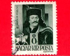 UNGHERIA - Usato - 1943 - Personaggi Della Storia Ungherese - Ferenc II Rakoczi (1676-1735), Combattente - 8