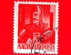 UNGHERIA - Usato - 1943 - Personaggi Della Storia Ungherese - Pal Kinizsi (-1494), Generale - 5