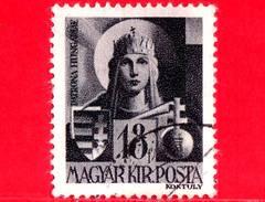 UNGHERIA - Usato - 1943 - Personaggi Della Storia Ungherese - Vergine Maria, Patrona D'Ungheria - 18