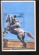 MINT NEVER HINGED MINI SHEETS OF OLYMPIC GAME ; ATLANTA ; HORSES    ( GAMBIA   1654
