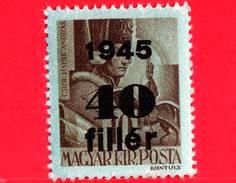 UNGHERIA - Nuovo - 1945 - Liberazione Dell'Ungheria - Conte Andras Hadik (1710-1790)  - Sovrastampato 40 Su 10