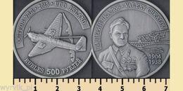 UDD And CHKALOV Island 2013 500 Rubles Valery Chkalov Tupolev ANT-25 - Islas Cook
