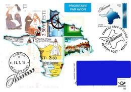 Estonia Estland Estonie 2017 Prepaid Postcard (No95) Hiiumaa Stamps (FD Postmark)