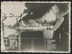 CUIRASSÉ DE GUERRE 1940 : LE BRETAGNE. S'enfonce Par L'arrière - Guerre, Militaire