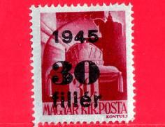 UNGHERIA - Nuovo - 1945 - Liberazione Dell'Ungheria - Corona Di S. Stefano - Sovrastampato 30 Su 30