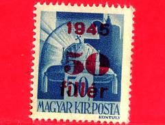 UNGHERIA - Nuovo - 1945 - Liberazione Dell'Ungheria - Corona Di S. Stefano - Sovrastampato 50 Su 50