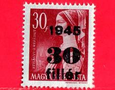 UNGHERIA - Nuovo - 1945 - Liberazione Dell'Ungheria - Erzsébet Szilagyi - Sovrastampato 30 Su 30