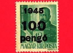 UNGHERIA - Nuovo - 1945 - Generale Artúr Görgey (1818-1916) - Sovrastampato 100 Su 12