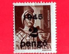 UNGHERIA - Nuovo - 1945 - Liberazione Dell'Ungheria - Generale Janos Hunyadi (1385-1456) - Sovrastampato 2 Su 4