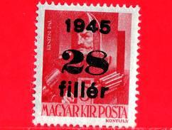 UNGHERIA - Nuovo - 1945 - Liberazione Dell'Ungheria - Generale Pal Kinizsi (-1494) - Sovrastampato 28 Su 5