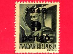 UNGHERIA - Nuovo - 1945 - Liberazione Dell'Ungheria - Principe Ruling Arpad (c. 850-907)  - Sovrastampato 9 Su 1