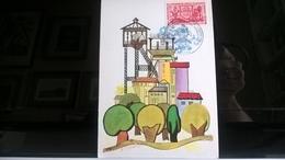 FRANCIA 1970 LENS - CONGRESSO NAZIONALE SOCIETA' FILATELICHE - MAQUETTE DI COMBET - Cartoline Maximum
