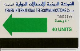 CARTE-PUCE-MAGNETIQUE-AUTELCA CARD-YEMEN-1996-40UNITS-GENERIQUE-TBE-RARE - Yemen