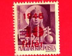 UNGHERIA - Nuovo - 1945 - Liberazione Dell'Ungheria - Vergine Maria, Patrona - Sovrastampato 40 Su 24