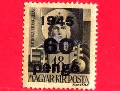 UNGHERIA - Nuovo - 1945 - Liberazione Dell'Ungheria - Vergine Maria, Patrona - Sovrastampato 60 Su 18 - Unused Stamps