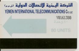 CARTE-PUCE-MAGNETIQUE-AUTELCA CARD-YEMEN-1996-80UNITS-GENERIQUE-TBE-RARE - Yémen