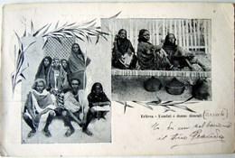 CPA-KP-PC- Erytree - COLONIA ITALIANA -- UOMINI E DONNE - DAUCALI ASSAB 1908 - Erythrée
