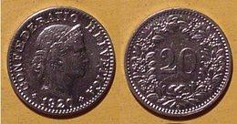 Schweiz, 20 Rappen 1920 - Suisse