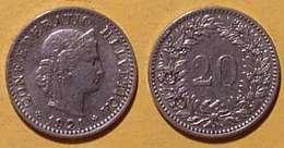 Schweiz, 20 Rappen 1921 - Suisse