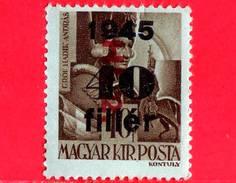 UNGHERIA - Nuovo - 1946 - Liberazione Dell'Ungheria - Conte Andras Hadik (1710-1790)  - Sovrastampato 'Hl. 2.' 40 Su 10