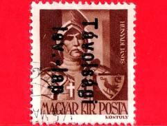 UNGHERIA - Usato - 1946 - Liberazione Dell'Ungheria - Janos Hunyadi (1385-1456) - Sovrastampato 'Tavolsagi Lev.-lap' - 4